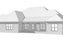 Architectural House Design - Traditional Exterior - Rear Elevation Plan #63-197