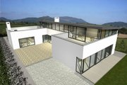 Modern Style House Plan - 4 Beds 3.5 Baths 2845 Sq/Ft Plan #520-2 Exterior - Rear Elevation