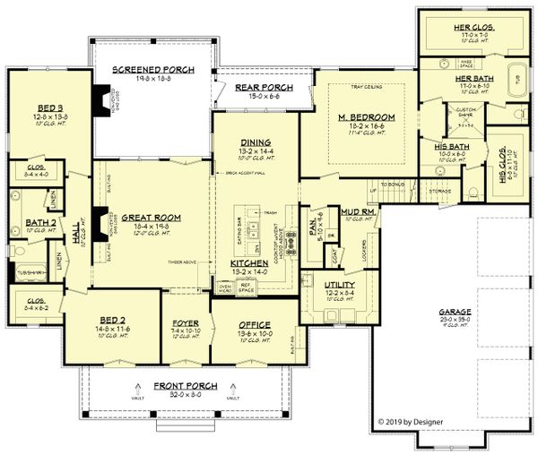European Floor Plan - Main Floor Plan Plan #430-192