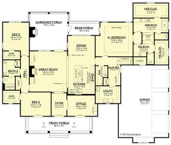 European Floor Plan - Main Floor Plan #430-192