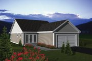 Craftsman Style House Plan - 2 Beds 1.5 Baths 1445 Sq/Ft Plan #70-1075 Exterior - Rear Elevation