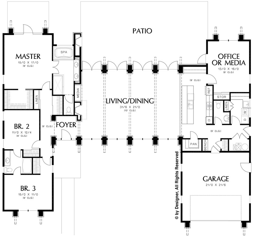 Modern Style House Plan - 3 Beds 2.5 Baths 2557 Sq/Ft Plan #48-476 on ranch house design, one story house plans, ranch house with basement, 8 bedroom ranch house plans, ranch house plans with porches, ranch house layout, texas ranch house plans, 4-bedroom ranch house plans, ranch house plans awesome, ranch country house plans, classic ranch house plans, unique ranch house plans, luxury house plans, loft house plans, rustic ranch house plans, walkout ranch house plans, ranch house with garage, luxury ranch home plans, ranch house kitchens, western ranch house plans,