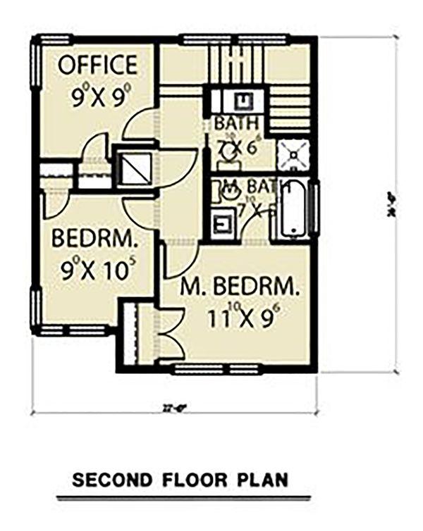 Dream House Plan - Contemporary Floor Plan - Upper Floor Plan #1070-66