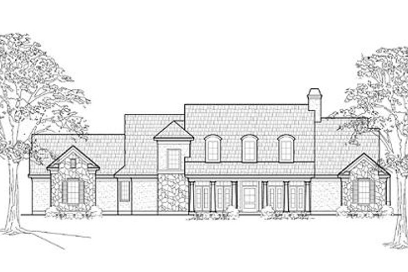 Southern Exterior - Front Elevation Plan #61-220