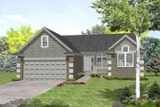 Ranch Style House Plan - 3 Beds 2.5 Baths 1725 Sq/Ft Plan #50-251 Exterior - Front Elevation