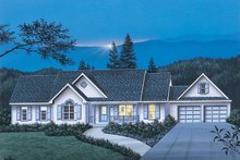 Country Exterior - Front Elevation Plan #57-140