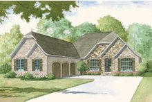 European Exterior - Front Elevation Plan #923-3