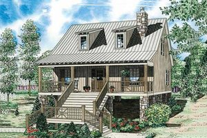 Cabin Exterior - Front Elevation Plan #17-2356