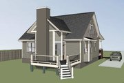 Craftsman Style House Plan - 3 Beds 2.5 Baths 1610 Sq/Ft Plan #79-222 Exterior - Rear Elevation