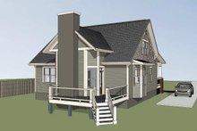Craftsman Exterior - Rear Elevation Plan #79-222
