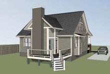 Craftsman Exterior - Rear Elevation Plan #79-222