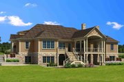 Traditional Style House Plan - 4 Beds 5.5 Baths 4679 Sq/Ft Plan #1054-21 Exterior - Rear Elevation