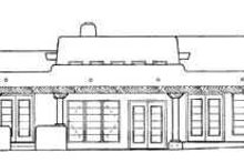 Adobe / Southwestern Exterior - Rear Elevation Plan #72-119