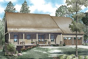Country Exterior - Front Elevation Plan #17-2459