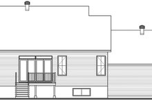 Farmhouse Exterior - Rear Elevation Plan #23-2729
