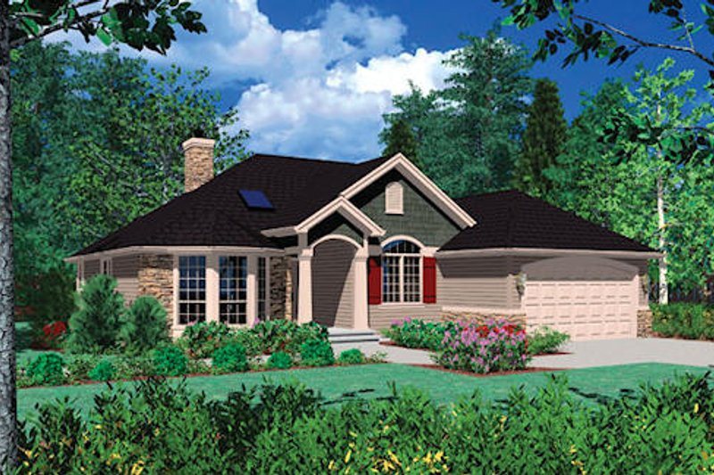 Traditional Exterior - Front Elevation Plan #48-406 - Houseplans.com