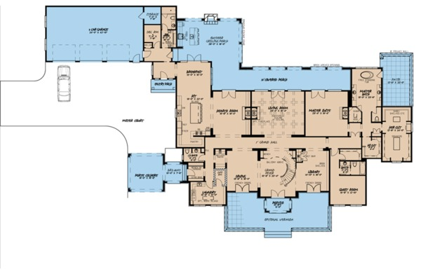 European Floor Plan - Main Floor Plan Plan #923-98