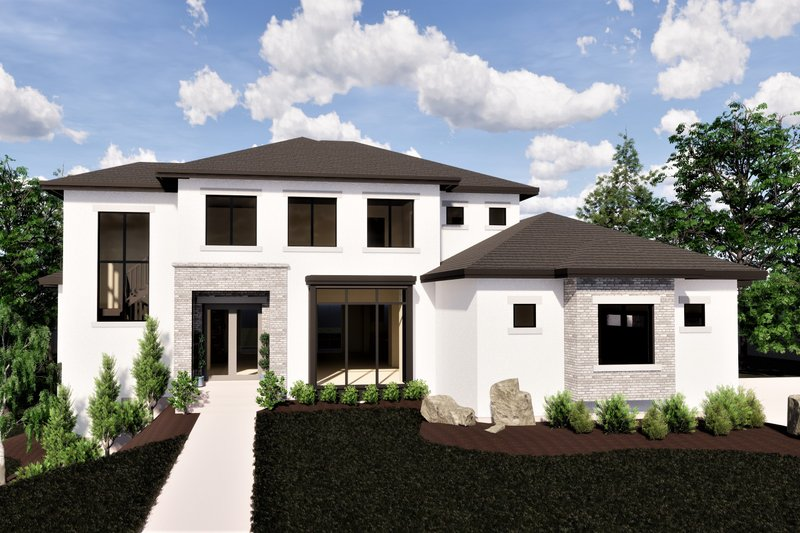 Dream House Plan - Contemporary Exterior - Front Elevation Plan #920-72