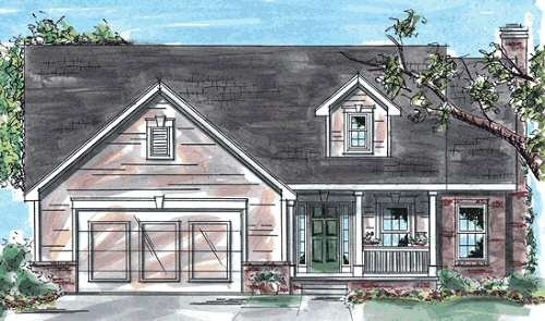 Traditional Exterior - Front Elevation Plan #20-1248 - Houseplans.com