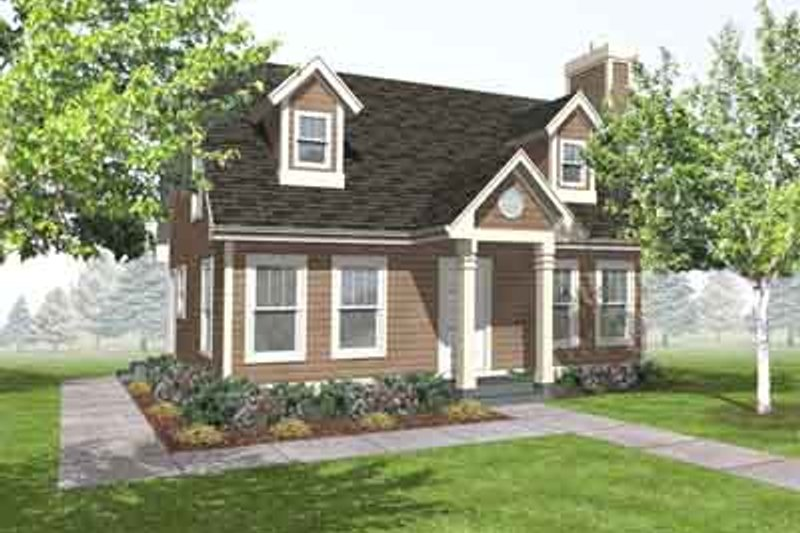 Cottage Style House Plan - 3 Beds 2 Baths 1260 Sq/Ft Plan #50-263 Exterior - Front Elevation