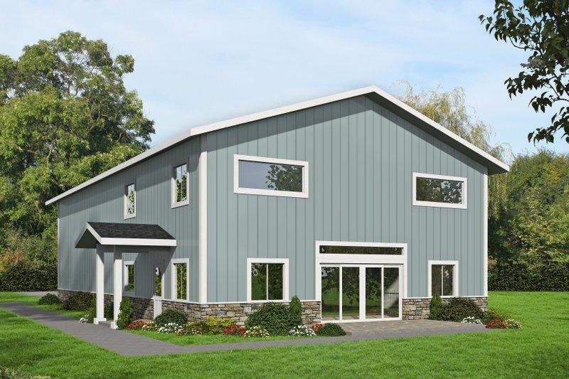 Dream House Plan - Modern Exterior - Front Elevation Plan #117-903
