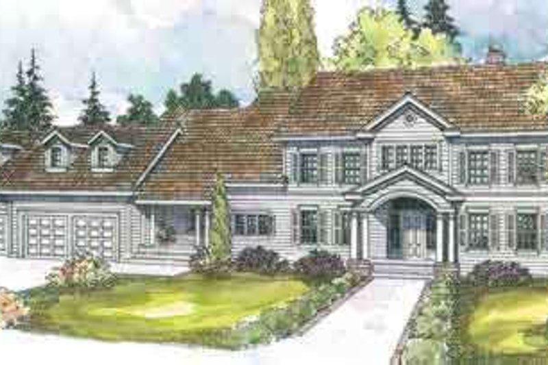 Colonial Exterior - Front Elevation Plan #124-550 - Houseplans.com