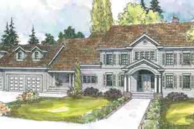 Dream House Plan - Colonial Exterior - Front Elevation Plan #124-550
