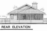 Traditional Style House Plan - 2 Beds 1.5 Baths 1080 Sq/Ft Plan #18-9112 Exterior - Rear Elevation