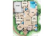European Style House Plan - 3 Beds 3 Baths 2764 Sq/Ft Plan #27-440 Floor Plan - Main Floor Plan