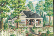 Victorian Style House Plan - 3 Beds 1 Baths 1179 Sq/Ft Plan #25-4771 Exterior - Front Elevation