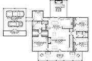 Ranch Style House Plan - 4 Beds 3 Baths 2474 Sq/Ft Plan #63-414 Floor Plan - Main Floor Plan