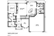 European Style House Plan - 3 Beds 2.5 Baths 3117 Sq/Ft Plan #320-484 Floor Plan - Main Floor Plan