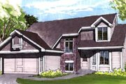House Plan - 3 Beds 2.5 Baths 1600 Sq/Ft Plan #320-349 Exterior - Front Elevation