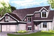 Exterior - Front Elevation Plan #320-349