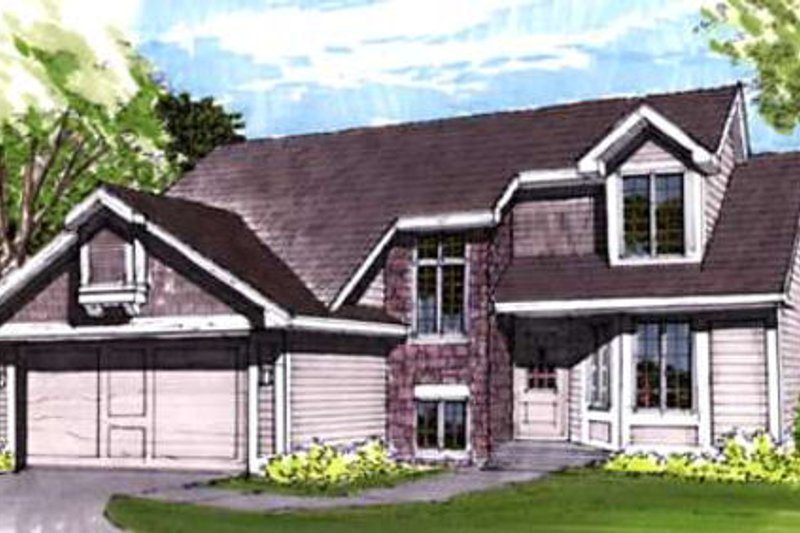Exterior - Front Elevation Plan #320-349
