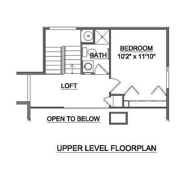 Contemporary Floor Plan - Upper Floor Plan #116-109