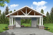 Architectural House Design - Craftsman Exterior - Front Elevation Plan #124-1226
