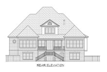 European Exterior - Rear Elevation Plan #1054-82