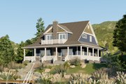 Craftsman Style House Plan - 4 Beds 2.5 Baths 2157 Sq/Ft Plan #1064-15 Exterior - Rear Elevation