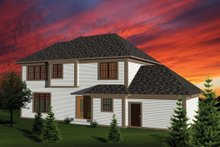 Home Plan - Exterior - Rear Elevation Plan #70-1102