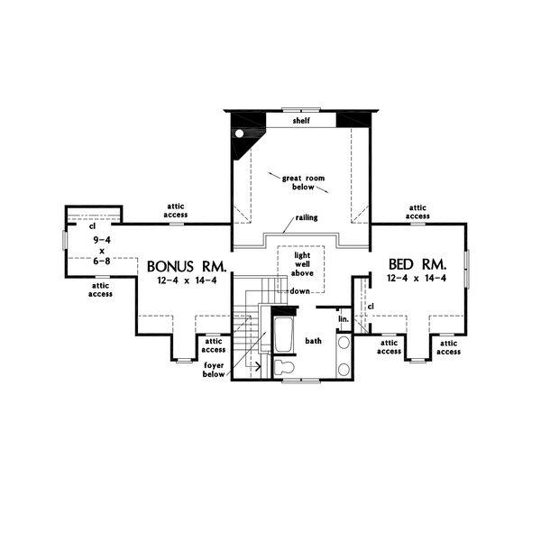 Farmhouse Floor Plan - Upper Floor Plan #929-1116
