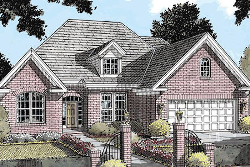 Architectural House Design - Traditional Exterior - Front Elevation Plan #20-179