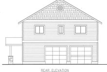 House Plan Design - Country Exterior - Rear Elevation Plan #117-881