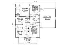 Cottage Floor Plan - Main Floor Plan Plan #513-2093