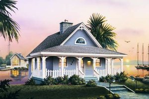 Dream House Plan - Cottage Exterior - Front Elevation Plan #57-164
