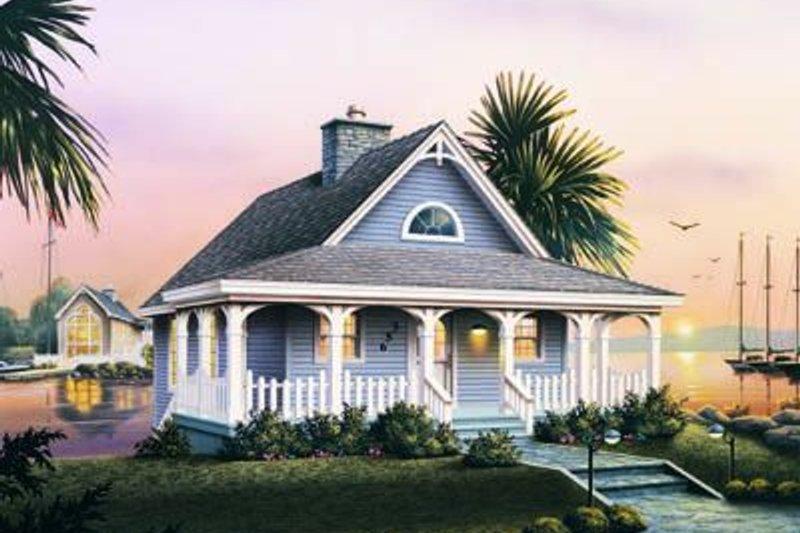 Cottage Exterior - Front Elevation Plan #57-164
