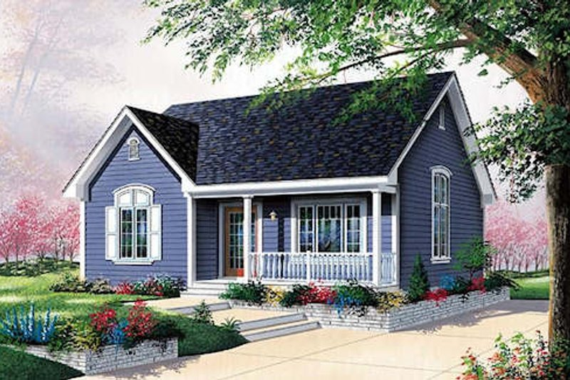 Cottage Exterior - Front Elevation Plan #23-108 - Houseplans.com
