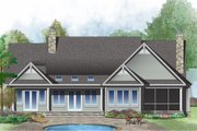 Country Style House Plan - 4 Beds 3 Baths 2544 Sq/Ft Plan #929-1026 Exterior - Rear Elevation