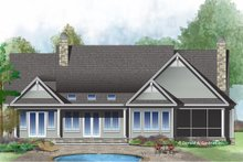Country Exterior - Rear Elevation Plan #929-1026