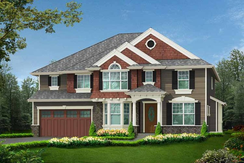 Craftsman Exterior - Front Elevation Plan #132-441